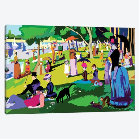 Sunday Afternoon On The Island Of La Grande Jatte By Georges Seurat Canvas Print #TDR287} by TECHNODROME1 Canvas Art Print