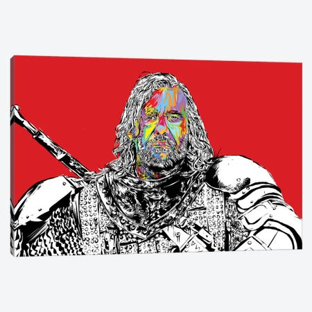 The Hound Canvas Print #TDR288} by TECHNODROME1 Canvas Wall Art
