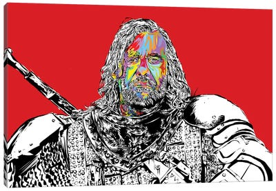 The Hound Canvas Art Print