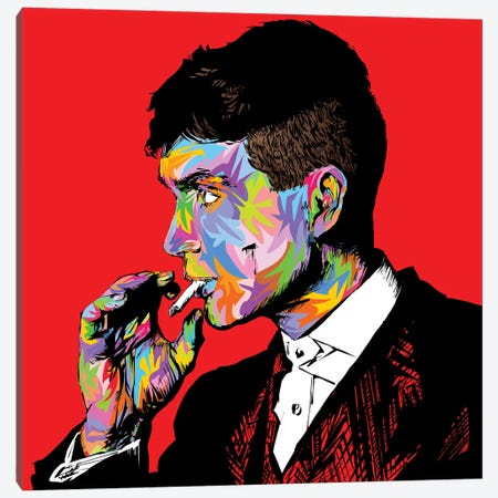 Tommy Shelby Canvas Print #TDR290} by TECHNODROME1 Canvas Print