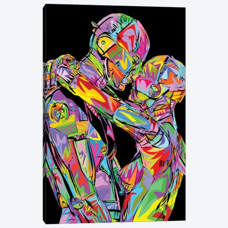 Valentines Robots Canvas Print #TDR291} by TECHNODROME1 Canvas Art Print