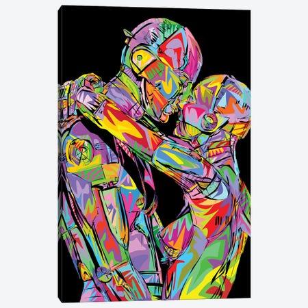 Valentines Robots Canvas Print #TDR291} by TECHNODROME1 Canvas Art Print