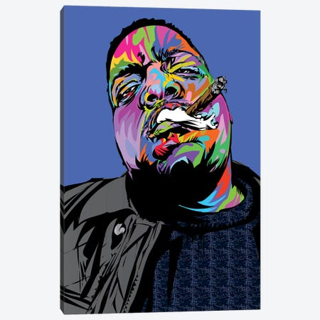 Notorious BIG Canvas Print #TDR299} by TECHNODROME1 Canvas Print