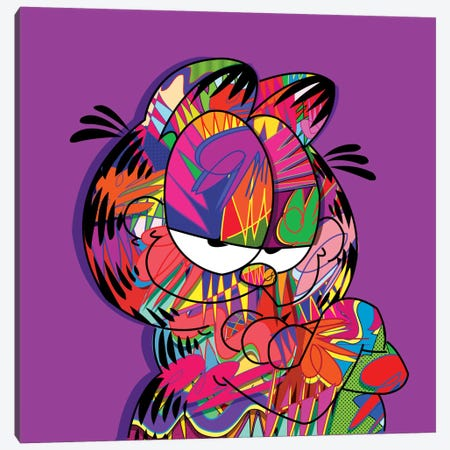 Garfield Canvas Print #TDR29} by TECHNODROME1 Canvas Artwork