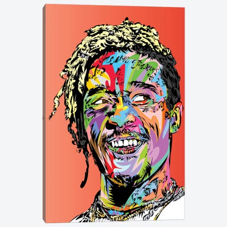 Uzi Canvas Print #TDR307} by TECHNODROME1 Canvas Art