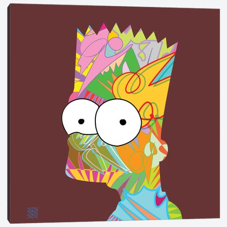 Bart 2019 3-Piece Canvas #TDR312} by TECHNODROME1 Canvas Art