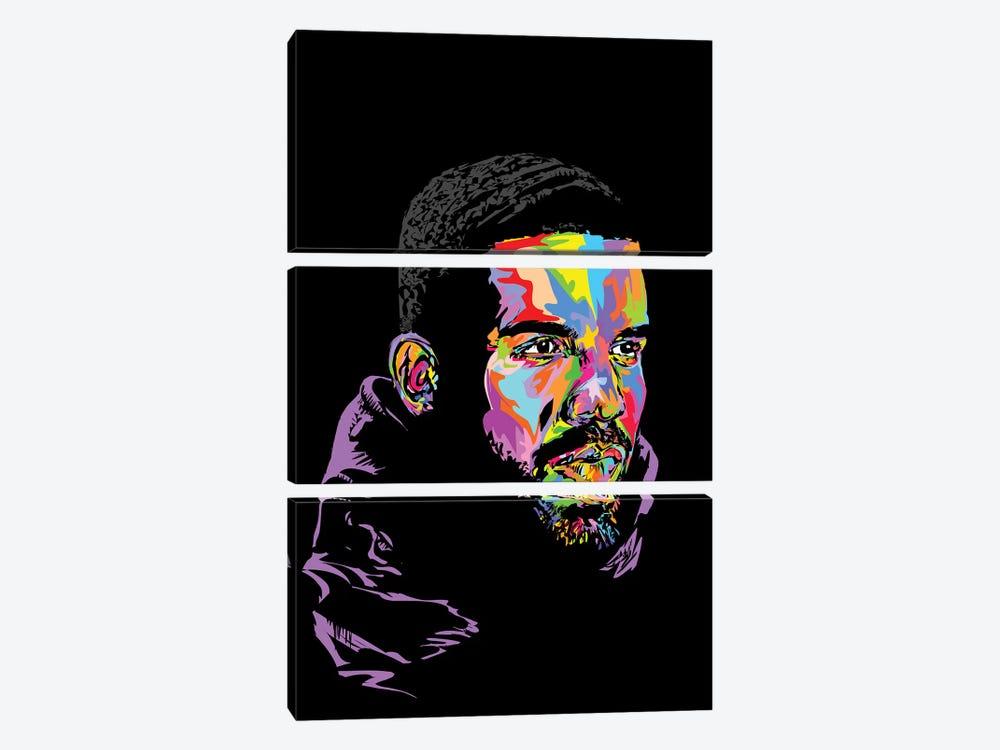 Drake Black 2019 by TECHNODROME1 3-piece Canvas Wall Art
