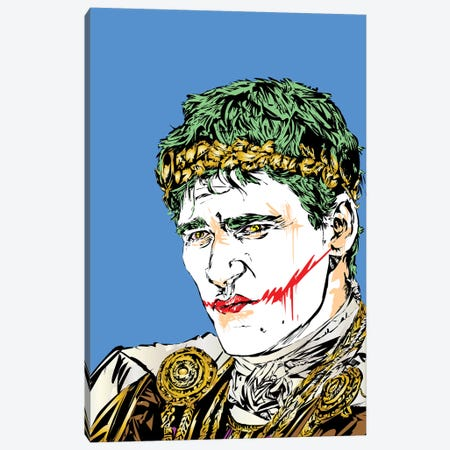 Thumbs Down Joker Canvas Print #TDR317} by TECHNODROME1 Canvas Print
