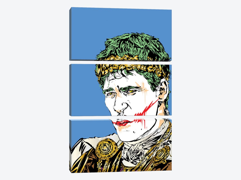 Thumbs Down Joker by TECHNODROME1 3-piece Canvas Artwork