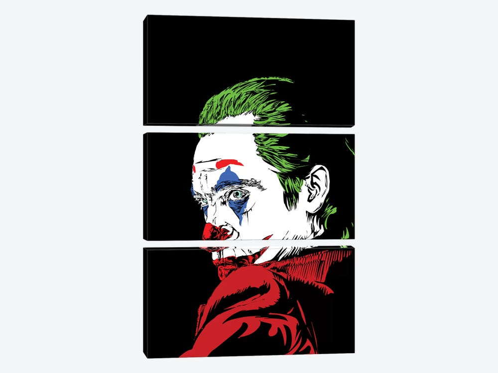 The Real Joker by TECHNODROME1 3-piece Canvas Print
