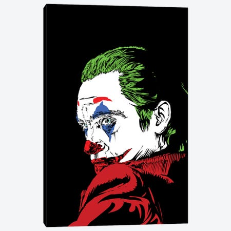 The Real Joker Canvas Print #TDR321} by TECHNODROME1 Canvas Art Print