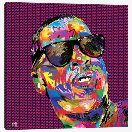 Jay-Z Canvas Print #TDR32} by TECHNODROME1 Canvas Art Print