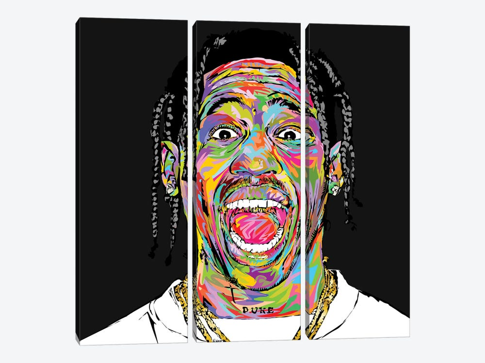 Travis 2019 by TECHNODROME1 3-piece Canvas Wall Art