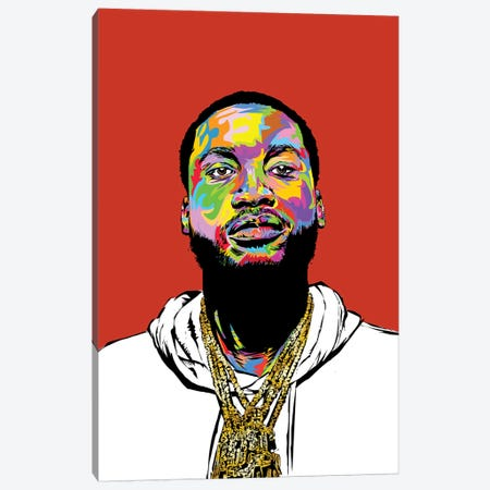 Meek Mill 2019 Canvas Print #TDR335} by TECHNODROME1 Art Print
