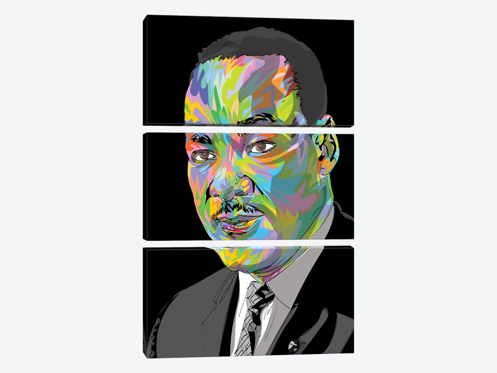 MLK 2020 by TECHNODROME1 3-piece Canvas Wall Art