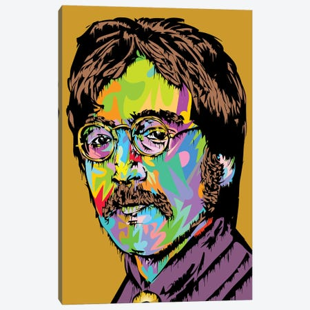 Lennon Canvas Print #TDR341} by TECHNODROME1 Art Print