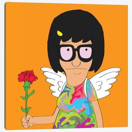 Tina Canvas Print #TDR357} by TECHNODROME1 Canvas Print