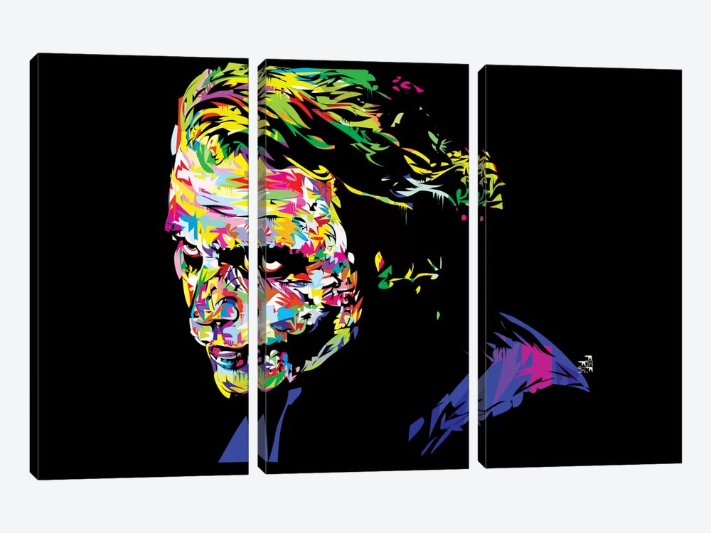 Joker II by TECHNODROME1 3-piece Canvas Wall Art
