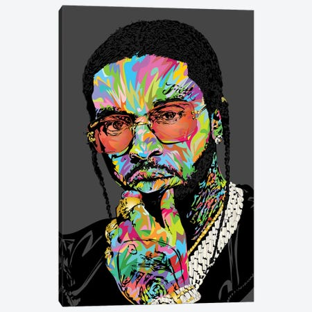 Pop Smoke Rip 2020 3-Piece Canvas #TDR365} by TECHNODROME1 Canvas Art