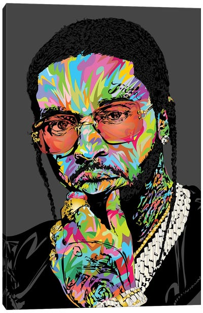 Pop Smoke Rip 2020 Canvas Art Print