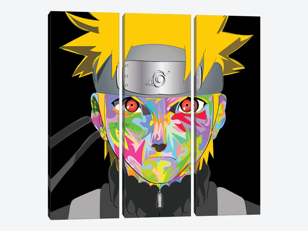 Naruto drome by TECHNODROME1 3-piece Canvas Art Print