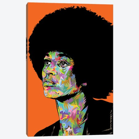 Angela Davis Drome Canvas Print #TDR371} by TECHNODROME1 Canvas Art