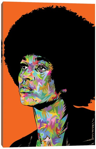 Angela Davis Drome Canvas Art Print