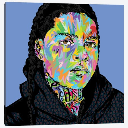 Young Ma Drone Canvas Print #TDR374} by TECHNODROME1 Art Print