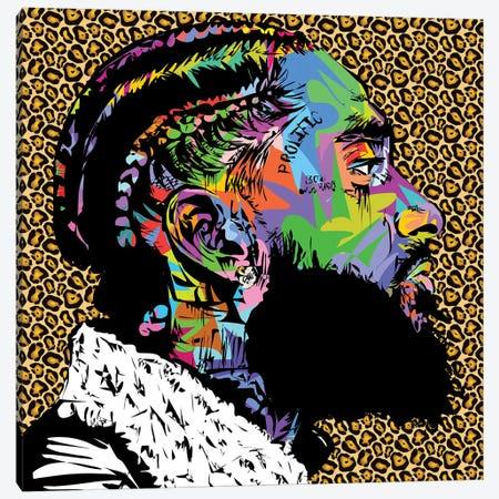 Nipsey Cheetah RIP Canvas Print #TDR376} by TECHNODROME1 Canvas Art Print