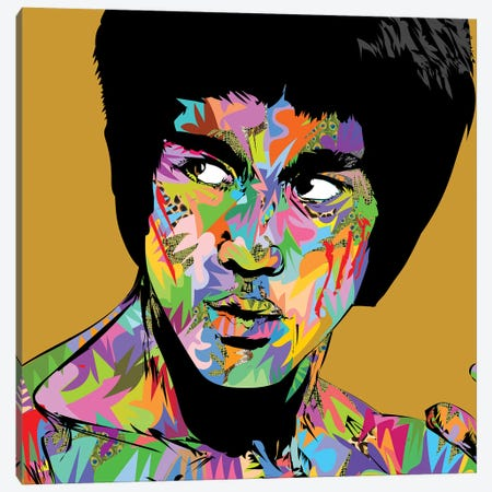 Bruce Lee 2020 Canvas Print #TDR380} by TECHNODROME1 Canvas Art Print