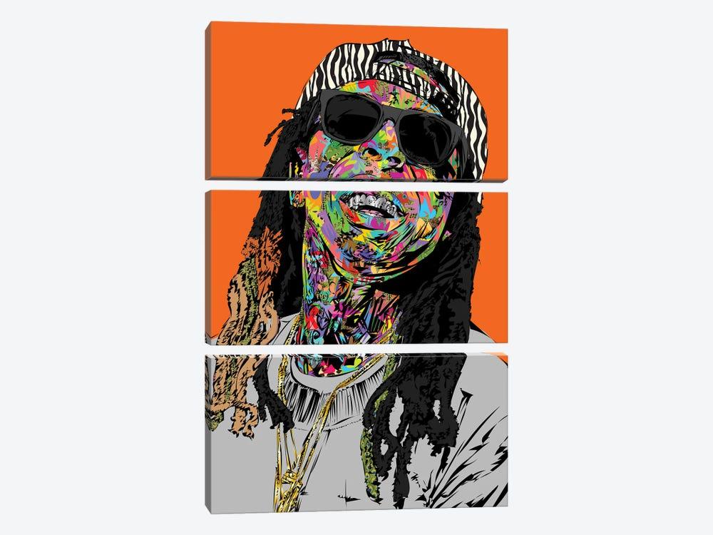 Lil Wayne 2020 by TECHNODROME1 3-piece Canvas Art