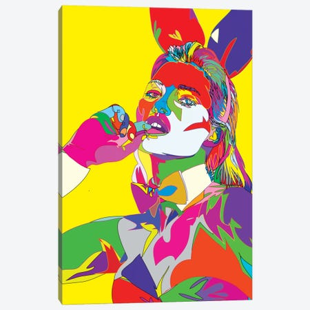 Kate Moss II Canvas Print #TDR38} by TECHNODROME1 Canvas Art Print