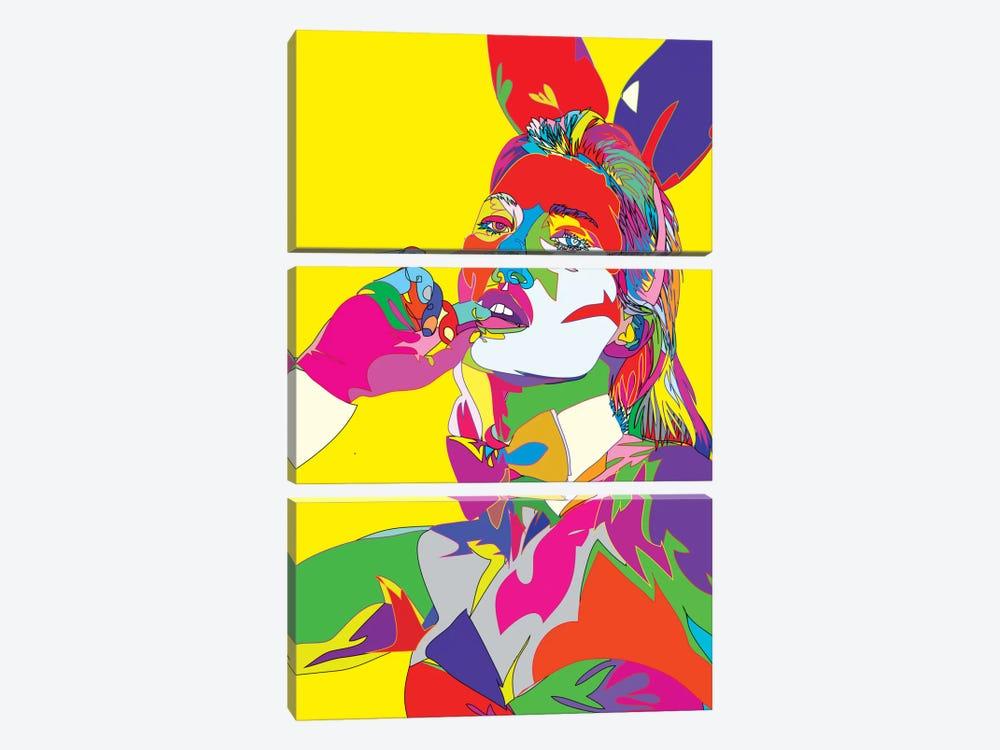 Kate Moss II by TECHNODROME1 3-piece Canvas Print