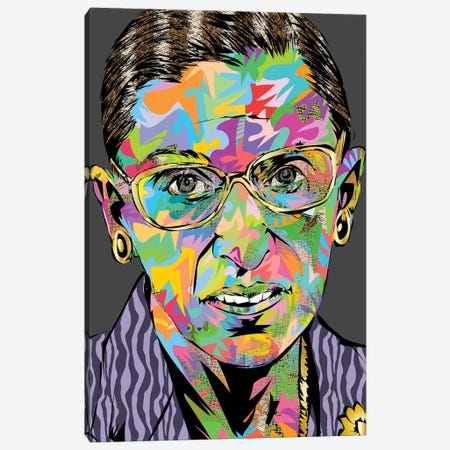 RBG RIP Canvas Print #TDR391} by TECHNODROME1 Canvas Wall Art