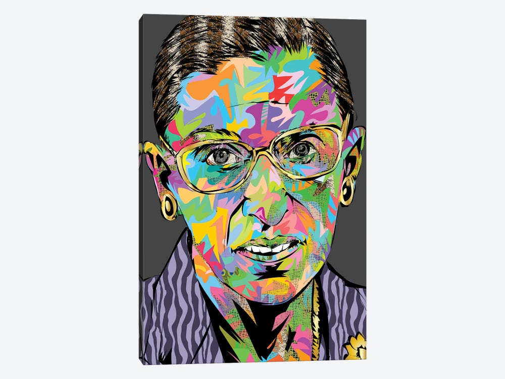 RBG RIP by TECHNODROME1 1-piece Canvas Wall Art