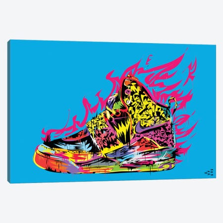 Air Yeezy Canvas Print #TDR3} by TECHNODROME1 Canvas Artwork