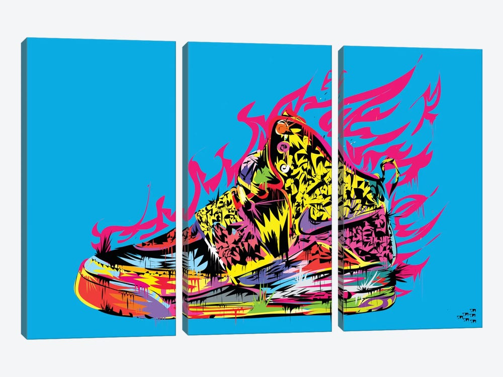 Air Yeezy by TECHNODROME1 3-piece Canvas Art Print
