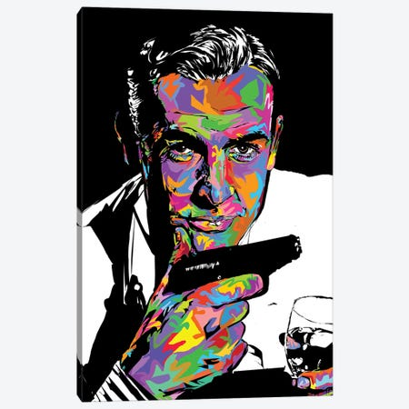 RIP James Bond 2020 Canvas Print #TDR402} by TECHNODROME1 Canvas Wall Art