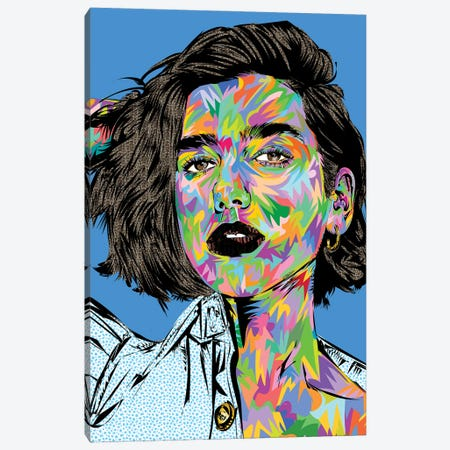 Dua Lipa Canvas Print #TDR406} by TECHNODROME1 Canvas Print