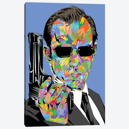 Agent Smith Canvas Print #TDR408} by TECHNODROME1 Canvas Wall Art
