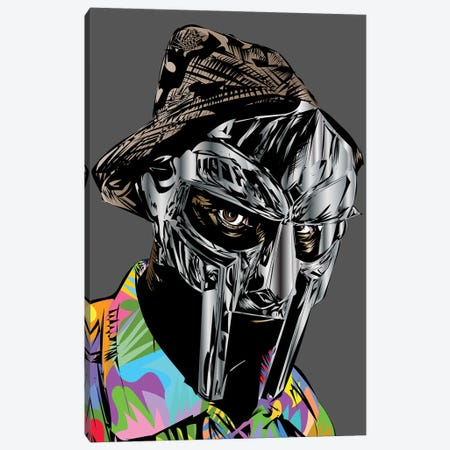 RIP Mf Doom Canvas Print #TDR420} by TECHNODROME1 Canvas Wall Art