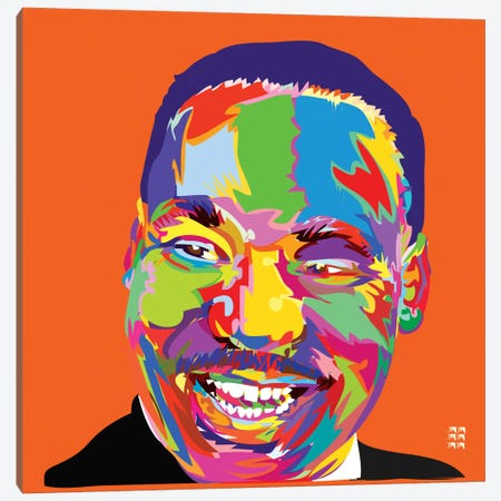 Martin Luther King Jr. Canvas Print #TDR42} by TECHNODROME1 Canvas Art