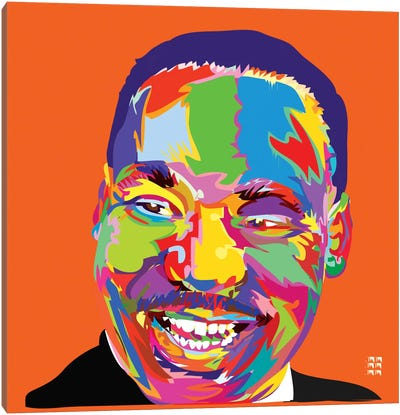 Martin Luther King Jr. Canvas Print #TDR42