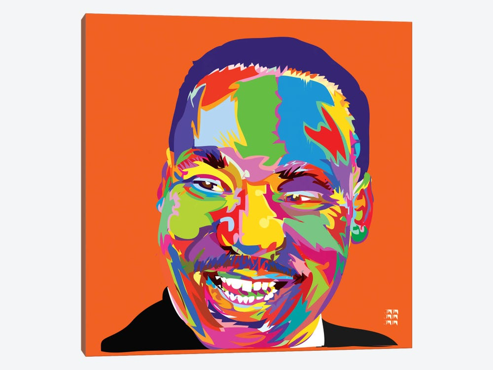 Martin Luther King Jr. by TECHNODROME1 1-piece Canvas Wall Art