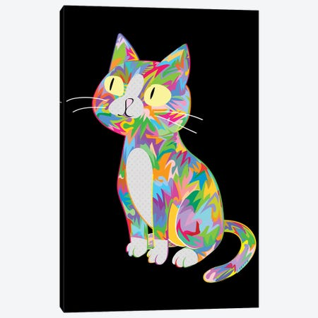Cat Canvas Print #TDR447} by TECHNODROME1 Canvas Art Print