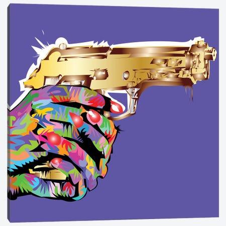 Golden Gun Canvas Print #TDR454} by TECHNODROME1 Canvas Artwork