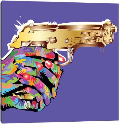 Golden Gun Canvas Art Print
