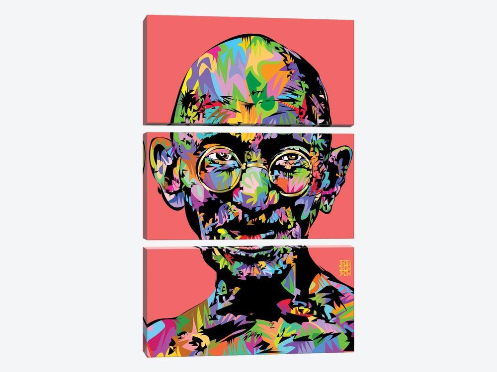 Ghandi 2021 by TECHNODROME1 3-piece Canvas Art Print