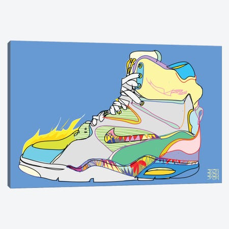 Nike Air Command Forces (Billy Ho's) Canvas Print #TDR46} by TECHNODROME1 Canvas Art Print