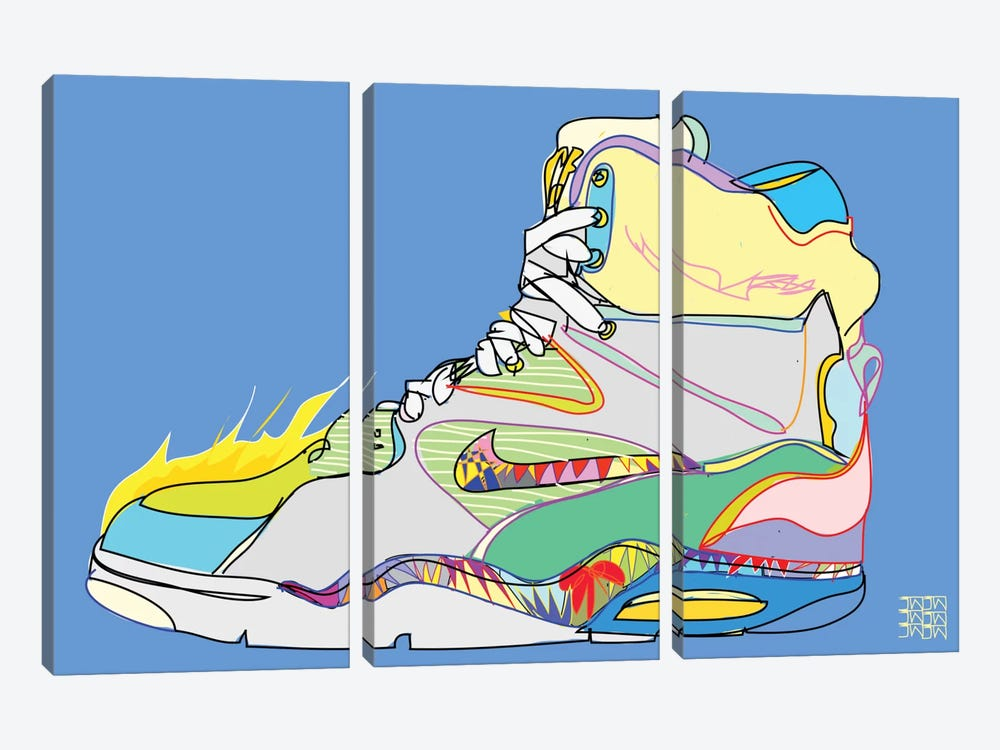 Nike Air Command Forces (Billy Ho's) by TECHNODROME1 3-piece Canvas Art
